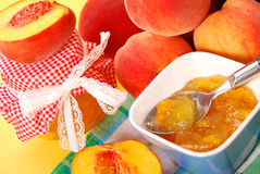Peach preserves Royalty Free Stock Photo
