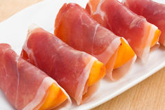 Peach in Prosciutto Royalty Free Stock Photos