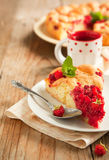 Peach and raspberry cake Royalty Free Stock Photography