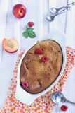 Peach and Raspberry Cobbler stock photos