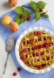 Peach and raspberry pie Royalty Free Stock Photos