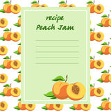 Peach recipes on a seamless texture Stock Photo