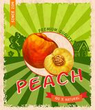 Peach retro poster Royalty Free Stock Photography
