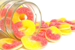 Peach Rings Stock Photography