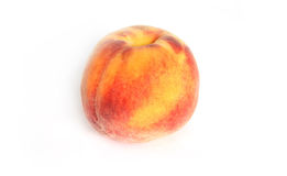 Peach. Ripe peach isolated on white background Royalty Free Stock Photos