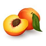 Peach. Ripe peach on a white backgroud Stock Photo