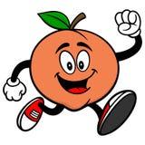 Peach Running. A vector illustration of a Peach Running stock illustration