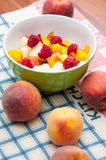 Peach salad Royalty Free Stock Images