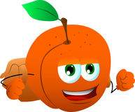 Peach with school bag Stock Photo