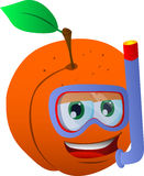 Peach scuba diver Royalty Free Stock Photo