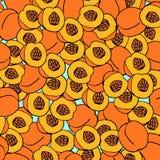 Peach seamless pattern. Stock Photos