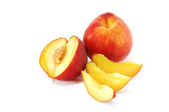 Peach with segments Royalty Free Stock Photos