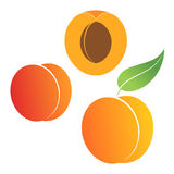 Peach. Set Stock Photography