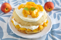 Peach Shortcake Stock Photo
