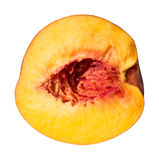 Peach Slice Isolated Stock Photo