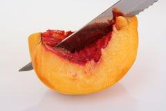 Peach slice. Slice of peach. Stock Photography