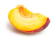 Peach slice Royalty Free Stock Photos