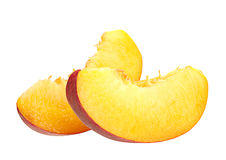 Peach slice on white Stock Photography