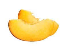 Peach slice on white Royalty Free Stock Photo