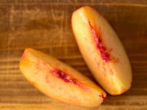 Peach slices Royalty Free Stock Images
