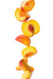 Peach Slices Stock Image
