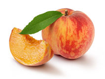 Peach slices Royalty Free Stock Photography