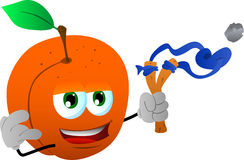 Peach with a slingshot Royalty Free Stock Photography