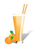 Peach smoothie Royalty Free Stock Photos