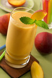 Peach smoothie Stock Photos