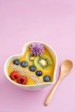 Peach smoothie bowl Stock Image