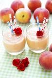 Peach smoothie Stock Image