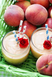 Peach smoothie Royalty Free Stock Image