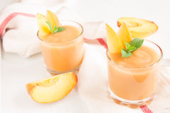 Peach smoothie dessert Stock Image