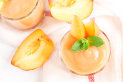 Peach smoothie dessert Stock Image