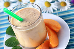Peach smoothie Royalty Free Stock Images