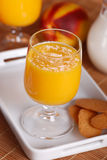Peach smoothie in the glass Stock Photos
