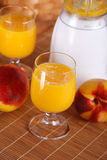 Peach smoothie in the glass Royalty Free Stock Photo