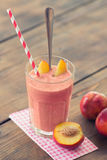 Peach Smoothie Royalty Free Stock Photography