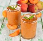 Peach smoothies Stock Photos