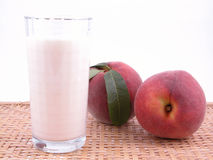Peach smoothite Royalty Free Stock Images