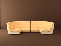 Peach sofa. In the interior Stock Photos