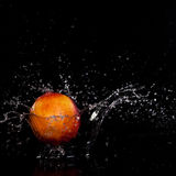 Peach splash Royalty Free Stock Images