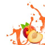Peach splash Stock Photo