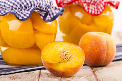Peach stewed fruit Stock Images