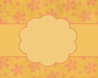 Peach Summer Flower Card Background Template Stock Photos