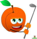Peach swinging his golf club Royalty Free Stock Photos