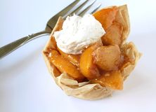 Peach Tart Royalty Free Stock Photos