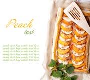 Peach tart Stock Photos