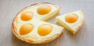 Peach tart Royalty Free Stock Images