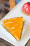 Peach tart Royalty Free Stock Image